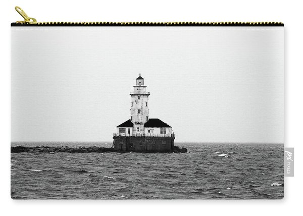The Lighthouse Black And White Carry-all Pouch
