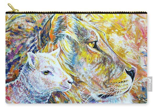 The Lion And The Lamb Carry-all Pouch