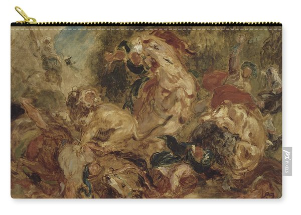The Lion Hunt Carry-all Pouch