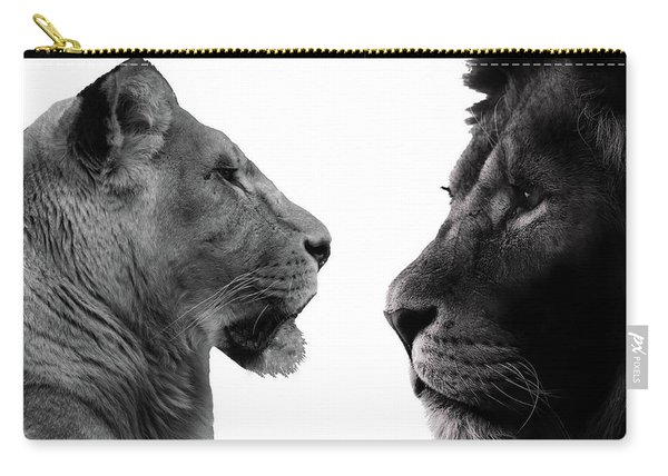 The Lioness And Lion Carry-all Pouch