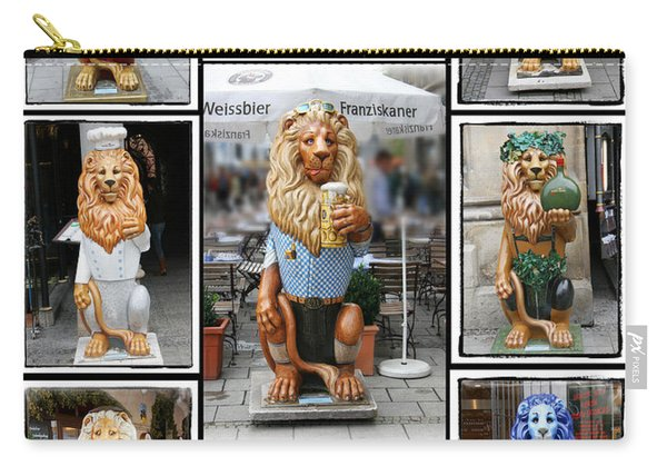 The Lions Of Munich Carry-all Pouch