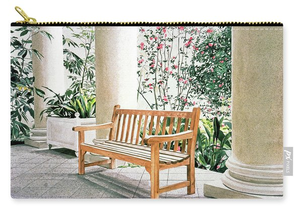 The Loggia At The Virginia Steele Scott Galleriy Of American Carry-all Pouch