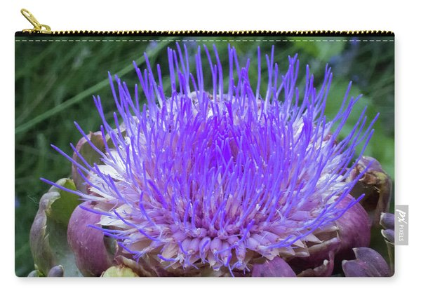 Carry-all Pouch featuring the photograph The Loveliness Of An Artichoke by Mary Lee Dereske