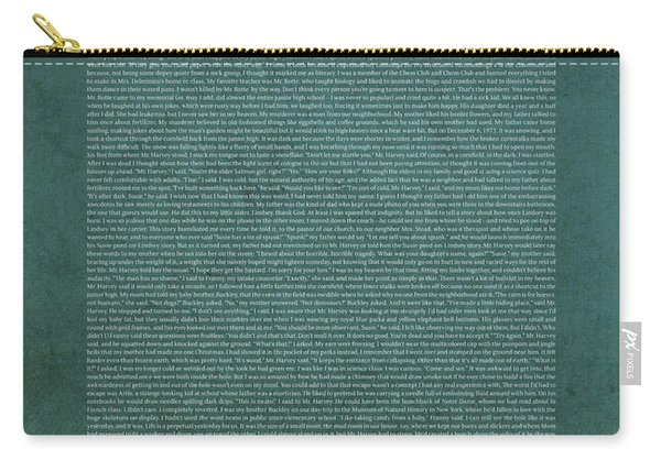 The Lovely Bones Alice Sebold Text Art Book Series 004 Carry-all Pouch