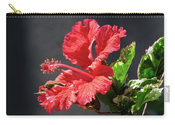 The Mallow Hibiscus Carry-all Pouch