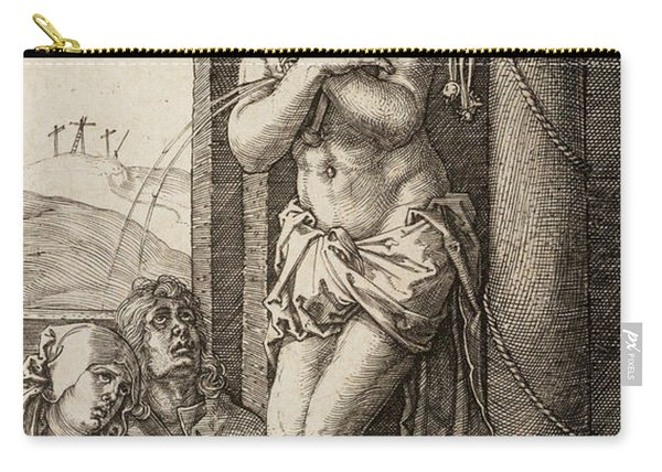The Man Of Sorrows By The Column With The Virgin And St. John  Carry-all Pouch