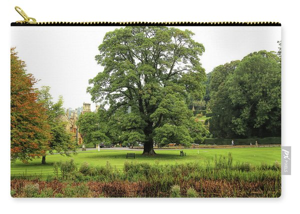 Carry-all Pouch featuring the photograph The Manor Castle Combe by Michael Hope