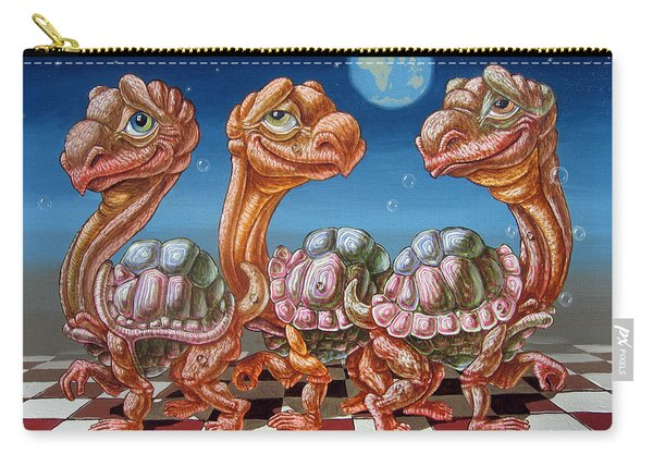 The March Of Lunar Turtles Carry-all Pouch