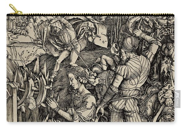 The Martyrdom Of St. Catherine Of Alexandria Carry-all Pouch