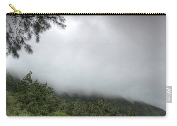 Carry-all Pouch featuring the photograph The Mist On The Mountain by Break The Silhouette