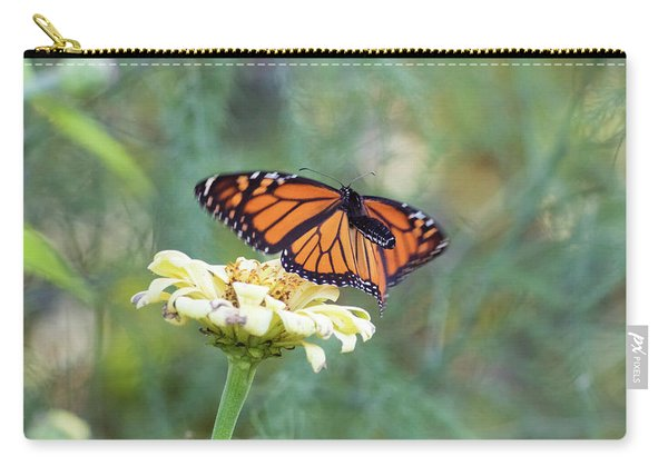 Carry-all Pouch featuring the photograph The Monarch Has Arrived by Brian Hale