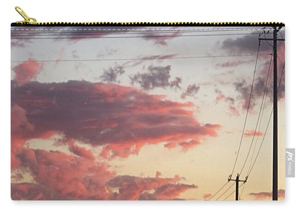 The Most #amazing #sunset Over #austin Carry-all Pouch