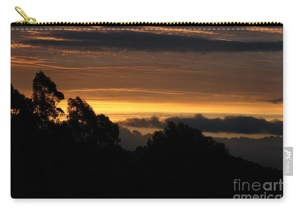 Carry-all Pouch featuring the photograph The Mountain At Sunrise by Cynthia Marcopulos