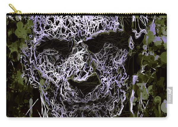 Carry-all Pouch featuring the mixed media The Mummy by Al Matra