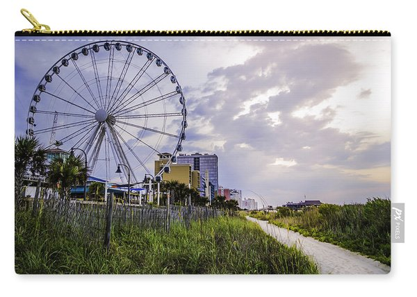 The Myrtle Beach, South Carolina Skywheel At Sunrise. Carry-all Pouch