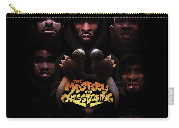 Carry-all Pouch featuring the digital art The Mystery Of Chessboxing by Nelson dedosGarcia
