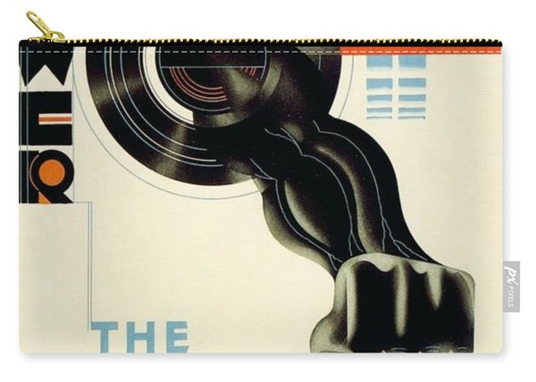 The Nerve Centre Of London's Underground - Retro Travel Poster - Vintage Poster Carry-all Pouch
