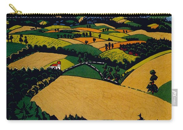 The North Downs - London Underground - London Metro - Retro Travel Poster - Vintage Poster Carry-all Pouch