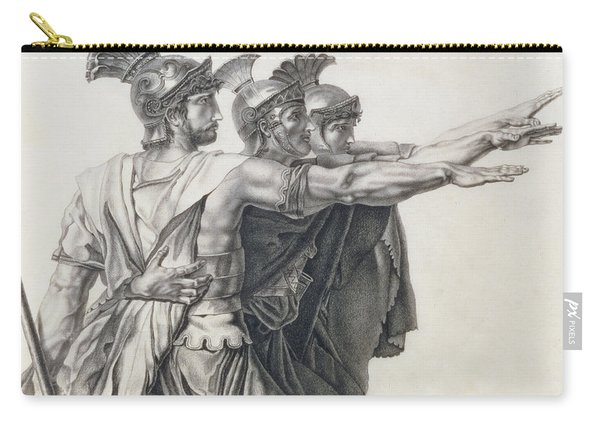 The Oath Of The Horatii, Detail Of The Horatii  Carry-all Pouch