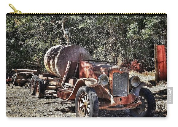 The Old Jalopy In Wine Country, California  Carry-all Pouch
