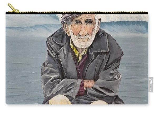 Carry-all Pouch featuring the painting The Old Waterman by Kevin Daly