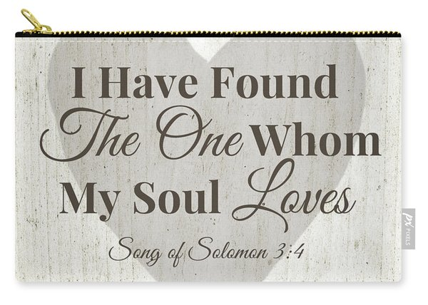 The One Whom My Sould Loves- Art By Linda Woods Carry-all Pouch