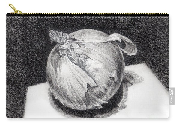 Carry-all Pouch featuring the drawing The Onion by Nancy Cupp