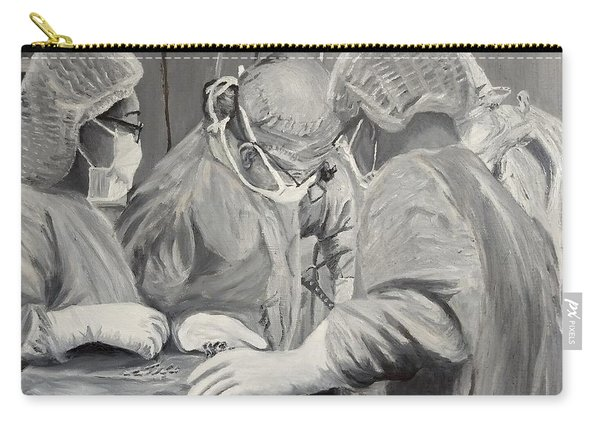 Carry-all Pouch featuring the painting The Operation by Kevin Daly