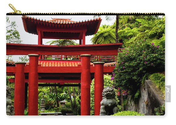 The Oriental Gate To Happiness Carry-all Pouch