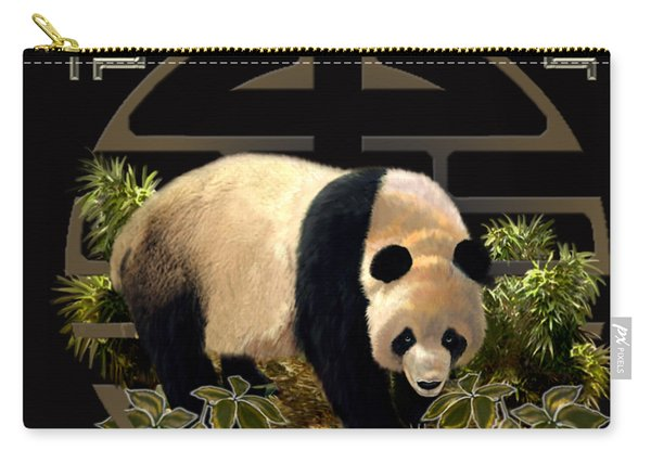 The Panda Bear And The Great Wall Of China Carry-all Pouch