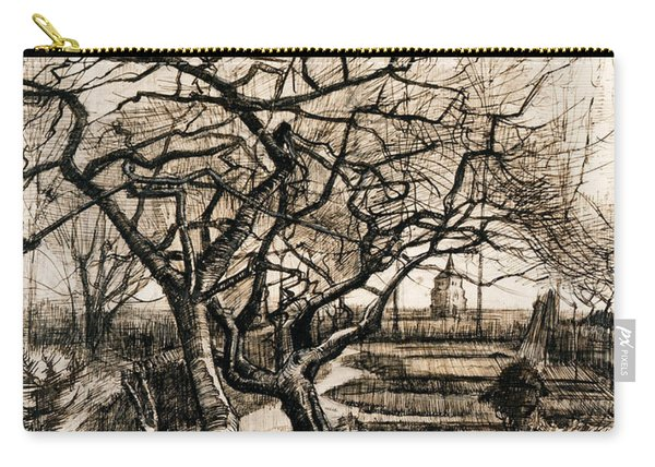 The Parsonage Garden At Nuenen In Winter Carry-all Pouch