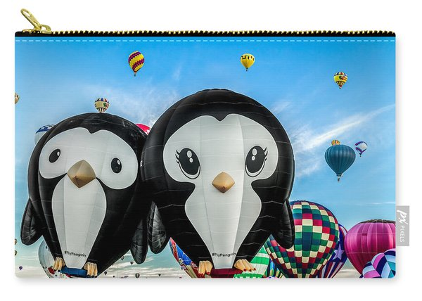 Puddles And Splash - The Penguin Hot Air Balloons Carry-all Pouch