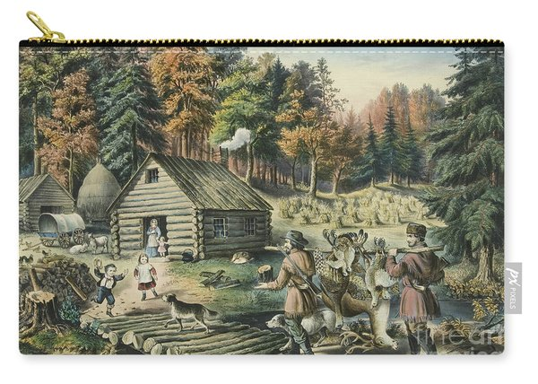 The Pioneers Home On The Western Frontier, 1867  Carry-all Pouch