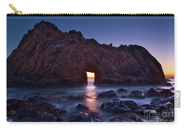 The Portal - Sunset On Arch Rock In Pfeiffer Beach Big Sur In California. Carry-all Pouch