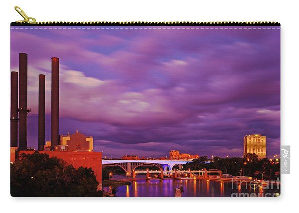 Carry-all Pouch featuring the photograph The Purple People Eaters Of Minneapolis, Minnesota by Sam Antonio Photography