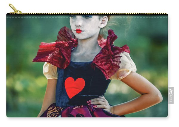 The Queen Of Hearts Alice In Wonderland Carry-all Pouch