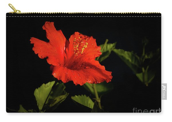 The Red Hibiscus Carry-all Pouch