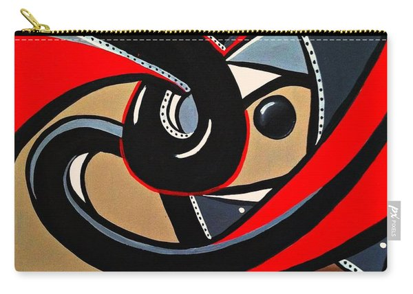 Red And Black Abstract Art Painting Carry-all Pouch