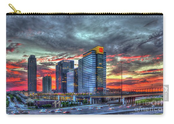 The Red Sunset Midtown Atlanta Cityscape Art Carry-all Pouch