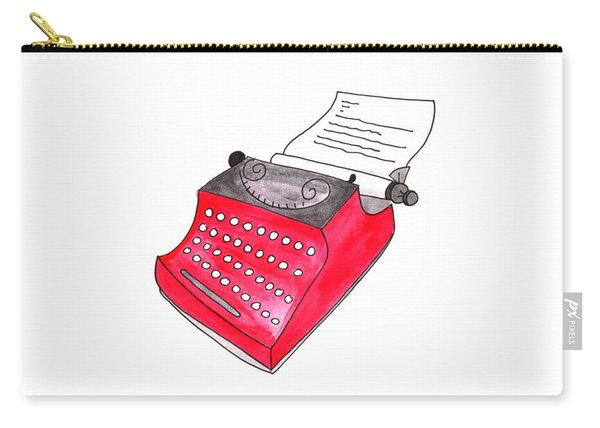 The Red Typewriter Carry-all Pouch