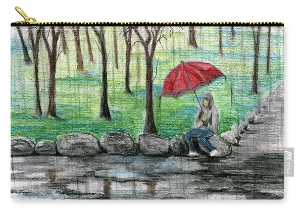 The Red Umbrella Carry-all Pouch
