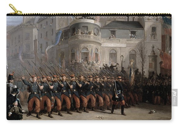 The Return Of The Troops To Paris From The Crimea Carry-all Pouch