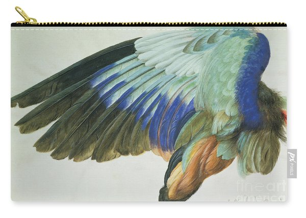 The Right Wing Of A Blue Roller Carry-all Pouch