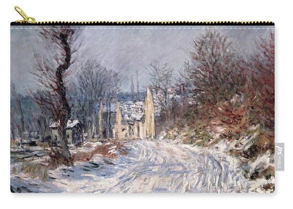 The Road To Giverny In Winter Carry-all Pouch