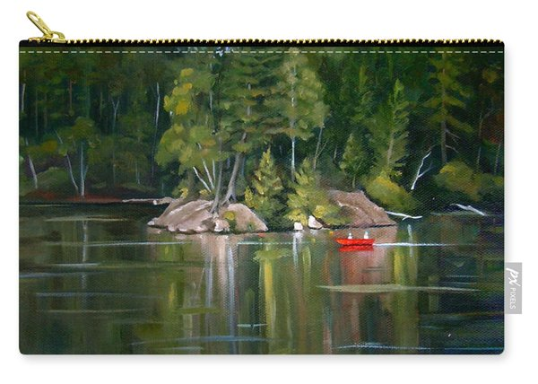 The Rock On Mirror In Woodstock New Hampshire Carry-all Pouch