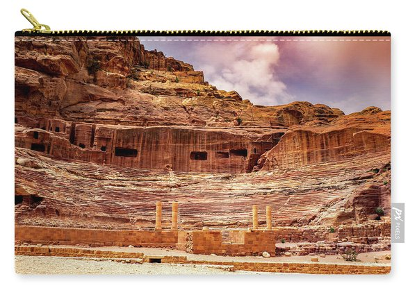 The Roman Theater At Petra Carry-all Pouch