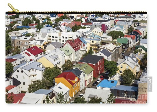 The Roofs Of Reykjavik Carry-all Pouch