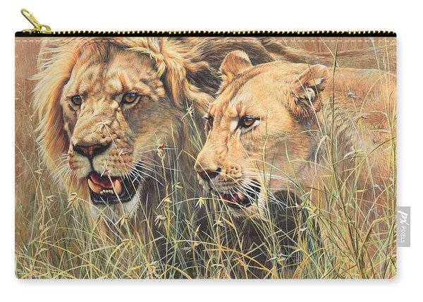 Carry-all Pouch featuring the painting The Royal Couple II by Alan M Hunt
