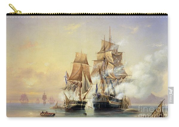 The Russian Cutter Mercury Captures The Swedish Frigate Venus On 21st May 1789 Carry-all Pouch