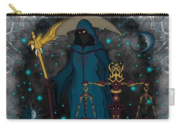 Carry-all Pouch featuring the painting The Scale Libra Spirit by Raphael Lopez
